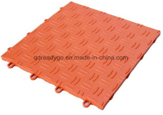 China Pp Diamond Floor Tile Pp Commercial Grade Garage Flooring