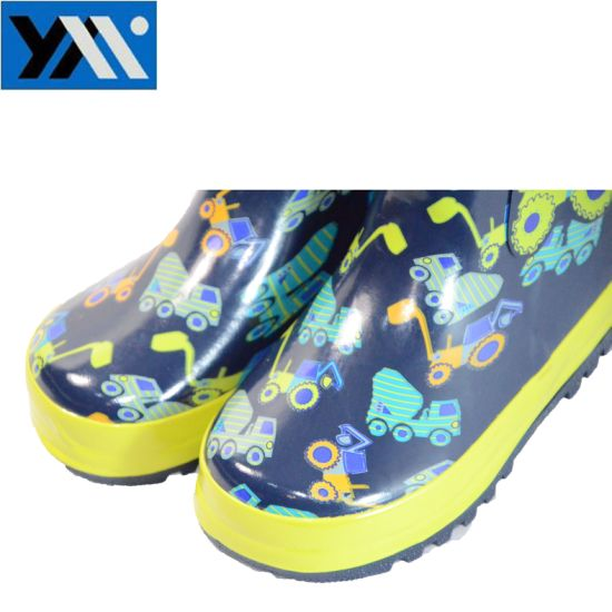High Quality Printing Kids Rubber Boots for Nylon Collar pictures & photos