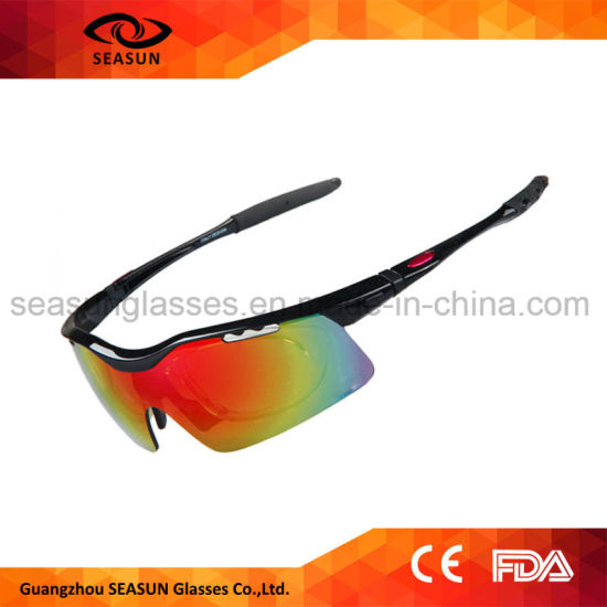 365dd7f22f28 Trendy Men and Women Cycling Glasses Mirror UV Proof Polarized Running  Sports Sunglasses