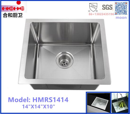 China R10 Radius Undermount Single Stainless Steel Handmade