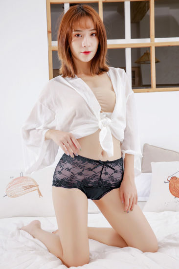 Sexy and Indentation Middle-Waisted Cotton Crotch Lace Underwear