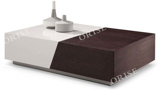 Hot Selling USA Modern Design Living Room Mixed Color Coffee Tables with Wood and Glass