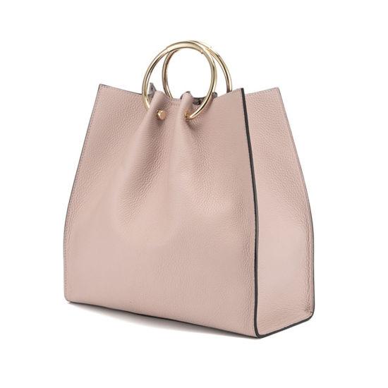 Lady Genuine Leather Handbag Set Cowhide Designer Top Handle Bag