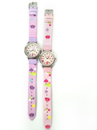 Promotion Quality Gift Woven Cloth Strap Swiss Kids Watch (CM-02) pictures & photos