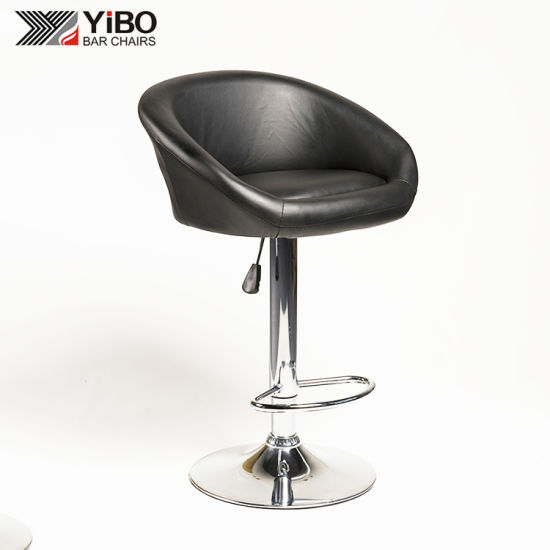 Brilliant China Faux Leather Swivel Chrome Leather Bar Stools China Short Links Chair Design For Home Short Linksinfo