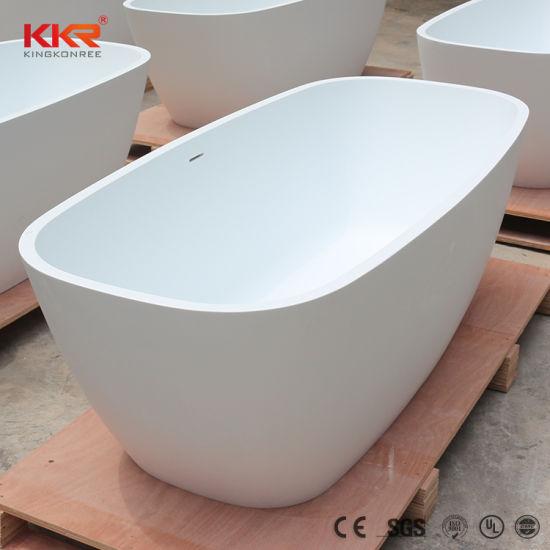 China Free Standing Solid Surface Stone Modern 150cm Bathtub ...