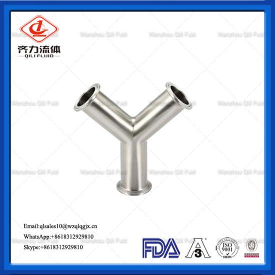 Sanitary Stainless Steel 304/316L Pipe Fittings Clamp Hygienic Y Type Tee