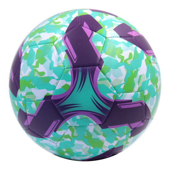 Official Size Machine Stitched PVC Soccer Ball pictures & photos