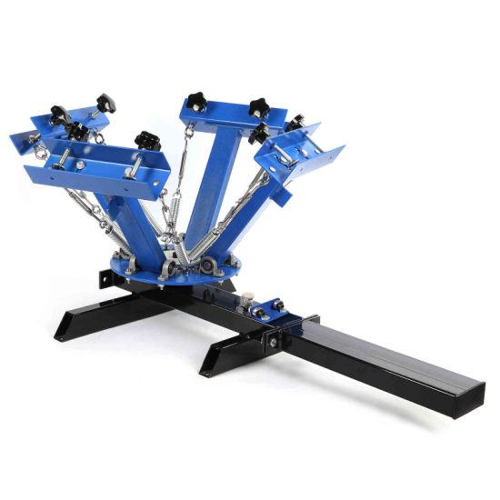 China 4 Color 1 Station Silk Screen Printing Machine T-Shirt