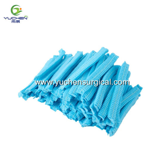 Disposable Non-Woven Hairnet with Elastic Band pictures & photos