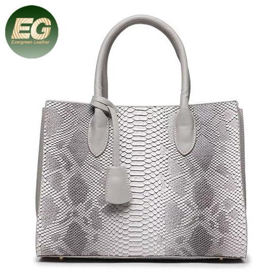 f36c344f98e6 China Trendy Women Tote Bag with Snake Print Big Handbags Sh607 ...