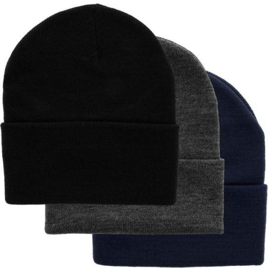 100% Acrylic Man Women Classical Good Quality Blank Custom Knit Wamr Beanie Winter Hat