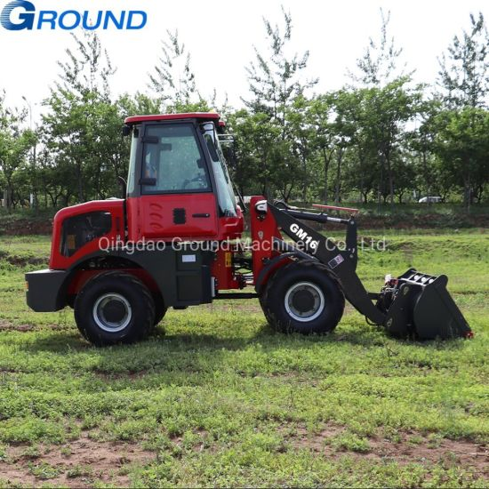 China Construction Machine 1.6Ton Mini Wheel Loader with good quality