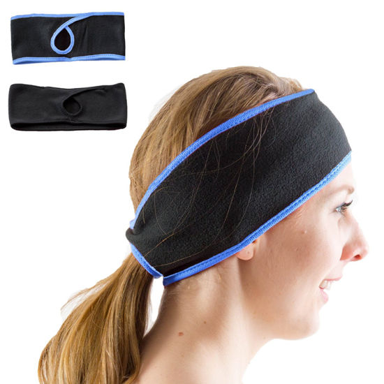 Girls Running Winter Sport Polar Fleece Ponytail Headband
