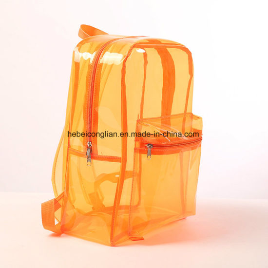 19258f98a9 Fashion Travel Accessories Shoulder Beach Transparent Clear Plastic  Waterproof Backpack