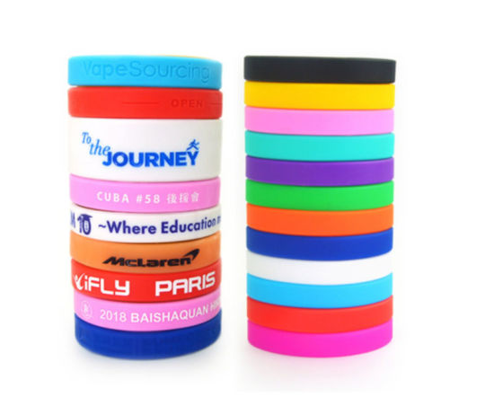 Custom Silicone Bracelets Rubber Wristbands Mixed Colors with Printed Logo