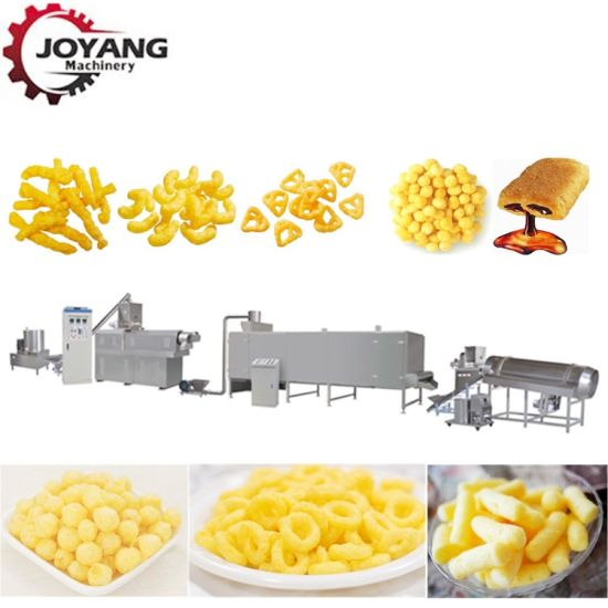 Textured Soya Protein Breakfast Cereals Panko Bread Crumb Core Filling Puffed Rice Corn Flakes Chips Snack Baby Food Extruder Making Machine