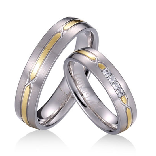 Couple Wedding Rings Adjustable Silver Plated Ring Jewelry