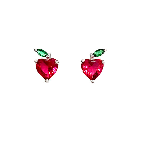 Summer Earrings Apple Heart Children Jewelry Fruit Colorful Shining pictures & photos