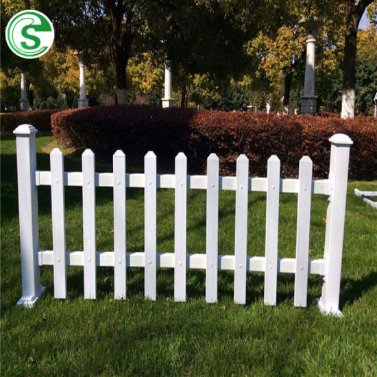 Export to Germany High Quality Outdoor Garden PVC Plastic Picket Fence