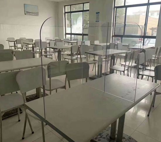 China Staff Dining Room Acrylic Dining Table Partition Board