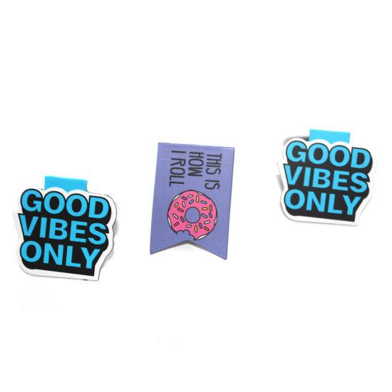 Custom Metal Souvenir Gift Printed Magnetic Bookmark/Magnet Bookmark