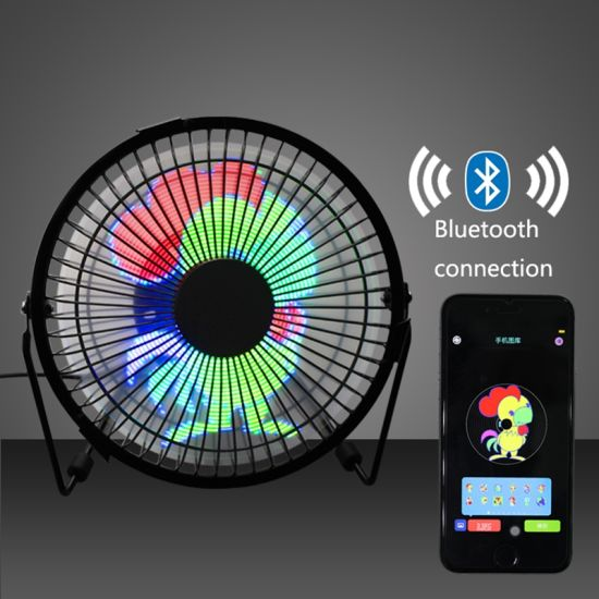 USB Desk Fan with LED Digital Clock Display, LC-Dolida Rotation Portable Mini Table Cooling Fan with Temperature Display