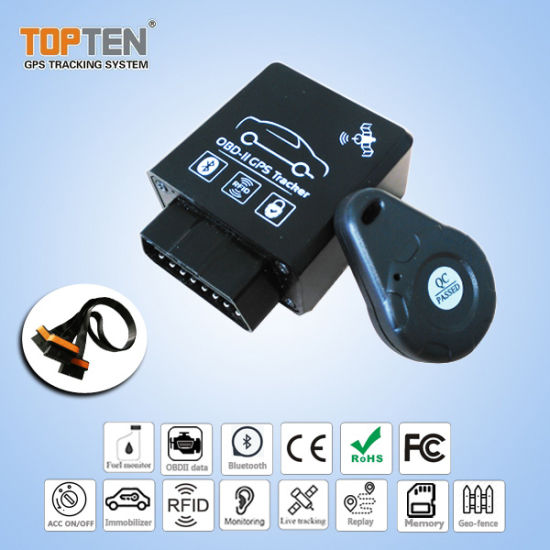 Manufacturer OBD-II GPS Tracker RFID Car Alarm Remote/Bluetooth Diagnosis with Can-Bus Tk228-Ju pictures & photos