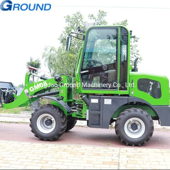 Euro cabin 0.8ton wheel front end loader with 0.4cbm bucket for farm