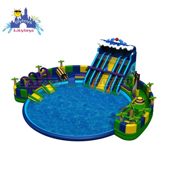 New Inflatable Amusement Ground Water Park with Pool