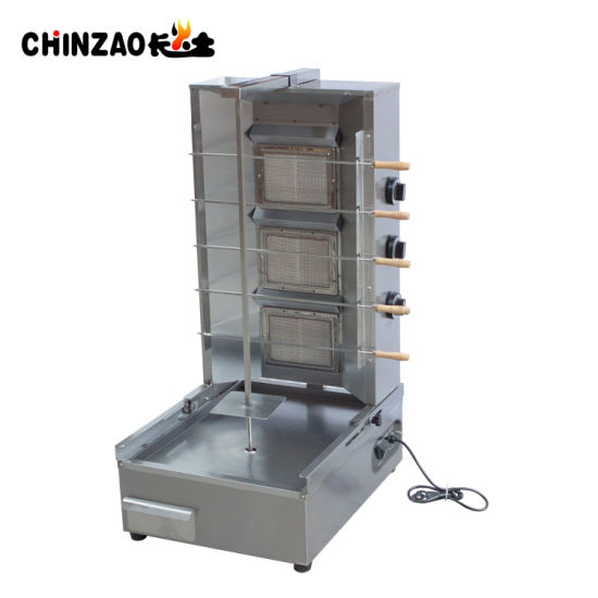 3 Burners Stainless Steel Vertical Gas Shawarma Barbecue Stove