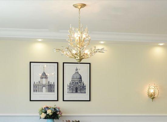 China Crystal Pendant Lighting Ceiling
