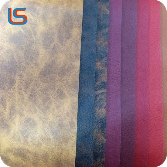 2018 New Design Fashionable PVC Synthetic Leather for Sofa Mat pictures & photos