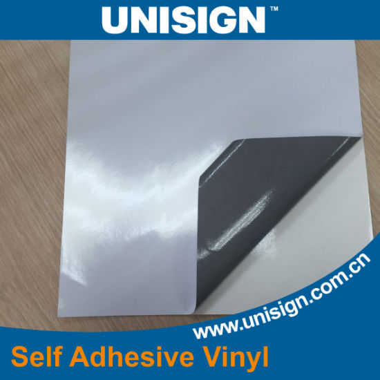 High Grade Self Adhesive Vinyl Film for Car Sticker Glossy Grey Glue pictures & photos