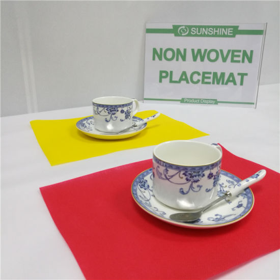 PP Spunbond Non Woven Tablecloth Fabric pictures & photos