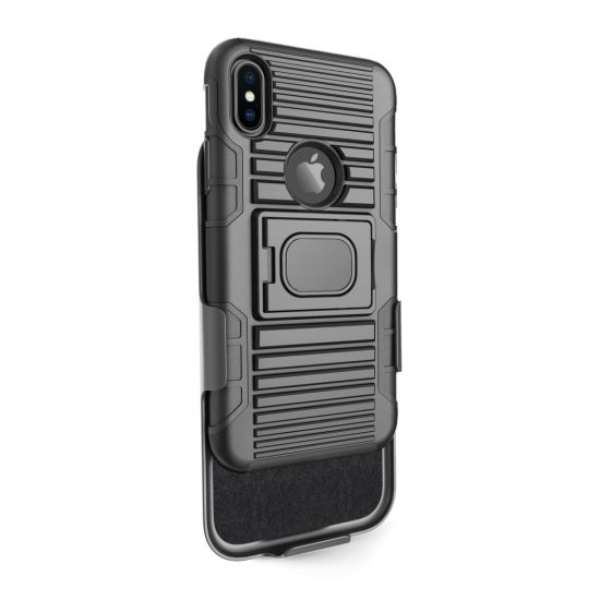 Dual Layer Belt Clip Rugged Armor Case Protective Phone Case for iPhone Xs/Xr/Xs Max