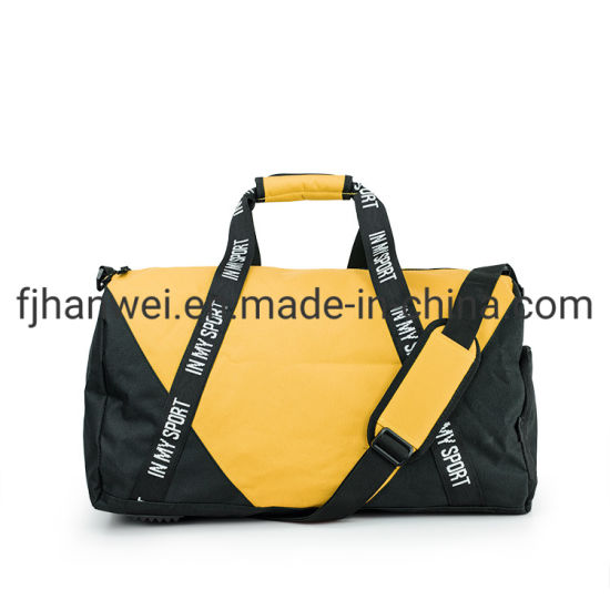 Custom Smell Proof Travel Duffel Gym Sports Duffel Bag with Shoe Compartment