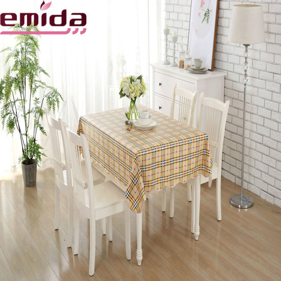 Fashion Checkered Design Grid Pattern Tablecloth Pvc Vinyl Plastic Lace Table Cloth