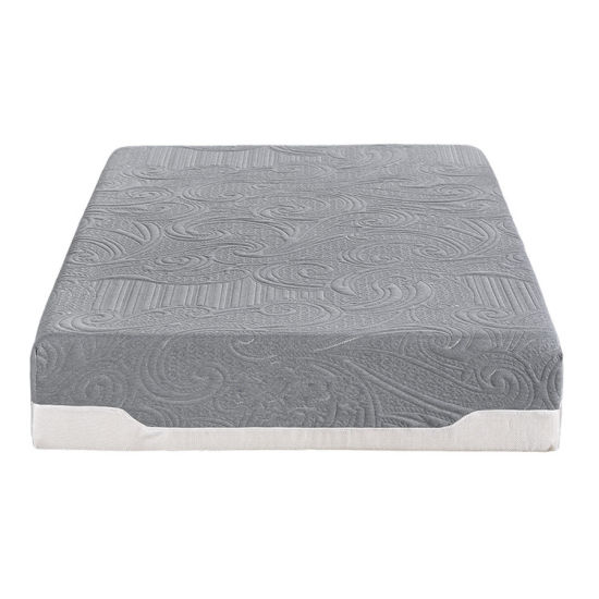 China Supplier Quilted Bamboo Fabric Cover Resilient Cool Memory Foam Mattress with Zipper