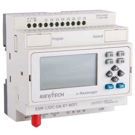 Factory Price GSM/SMS/GPRS Programmable Logic Controller PLC (Programmable Relay EXM-12DC-DA-RT-WiFi-HMI)
