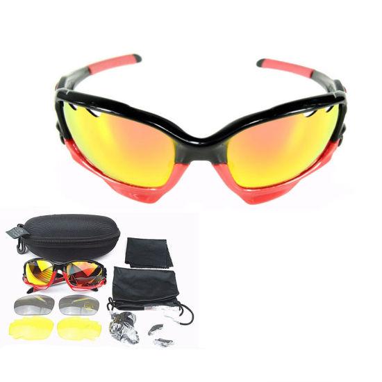 Wholesale Custom Logo Anti Scratch Black Sports Bicycle Polarized Sunglasses
