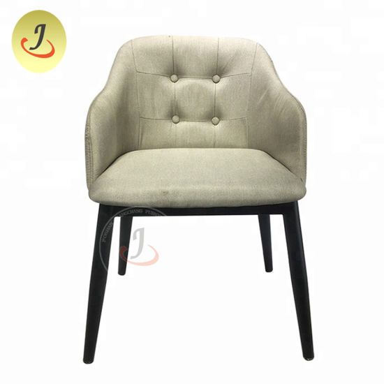 Modern Hotel Furniture Wood Leather Restaurant Dining Chair