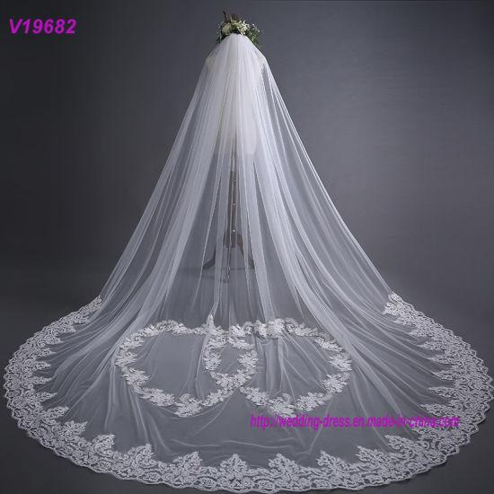 New Style High Quality 3m Lace Wedding Dress Veil