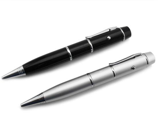Metal USB Flash Drive Laser Pointer Light Disk Pen
