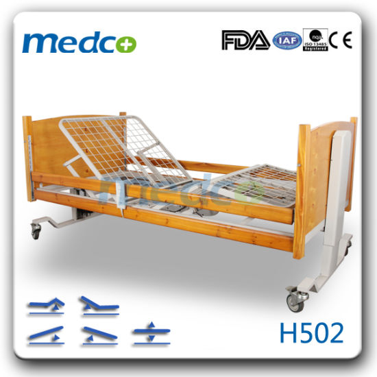 Factory Direct Price Electric Adjustable Hospital Wooden Home Care Bed pictures & photos