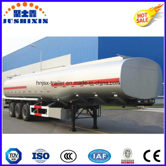 3 Axis 40000 Liters Carbon Steel Fuel Tanker Truck Semi Trailer with 4 Silo pictures & photos