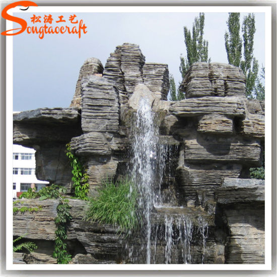 Garden Stone Artificial Rockery Resin Water Fountain
