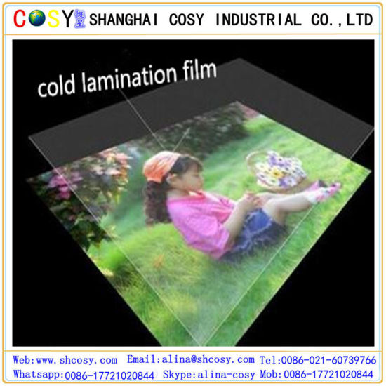 Glossy 3D Cold Lamination Film Protective Lamination Film pictures & photos