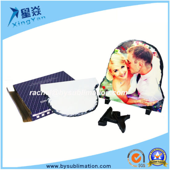 up Round Sublimation Rock Slate pictures & photos