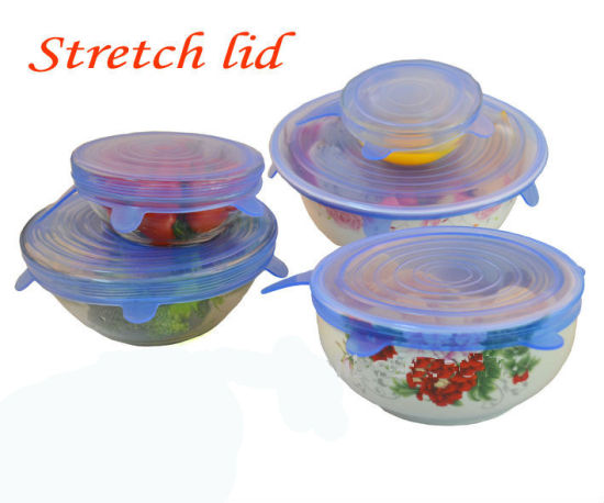 China Difference Sizes Flexible Silicone Stretch Bowl Lid for